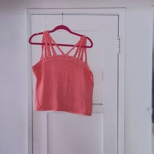 Gently used coral xl knitted tank crop top